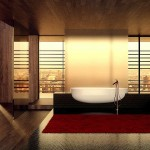 Red-black-white-bathroom