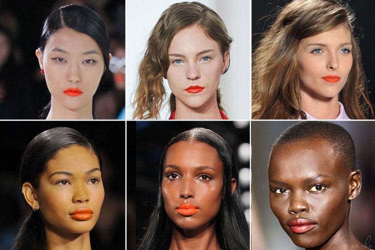 Best Orange Lipstick Light Dark Skin Tone Spring 2014 Trend