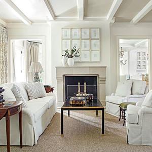 beyaz oturma odası
